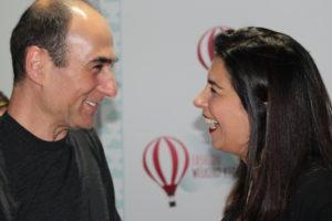 Amir Slama e Fernanda Scatamacchia conversando sobre a parceria, breve vem novidades.