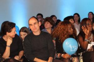 Na primeira fila os amigos Amir Slama,  Preta Nascimento e Dulmara Rufino