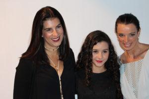 Fernanda Scatamacchia( proprietária da L'été), Lorena Tucci (Chiquititas)e Ana Cury (organizadora do FWK)